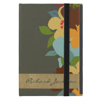 Tropical Floral Retreat Monogram iPad Case
