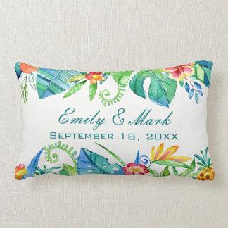 Tropical Floral  Wedding Custom Lumbar Pillow