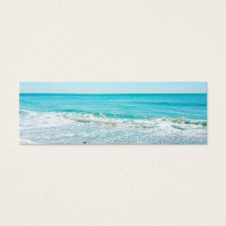 Tropical Florida Beach Sand Ocean Waves Sandpiper Mini Business Card