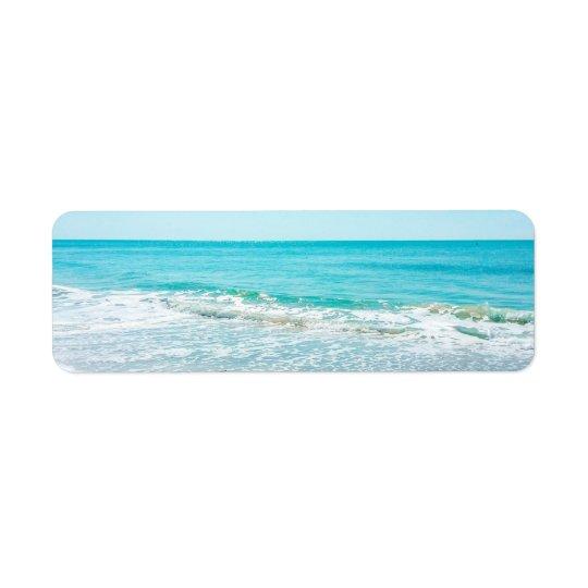 Tropical Florida Beach Sand Ocean Waves Sandpiper Return Address Label