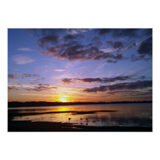 Tropical Florida Sunset Landscape Poster Photo Art