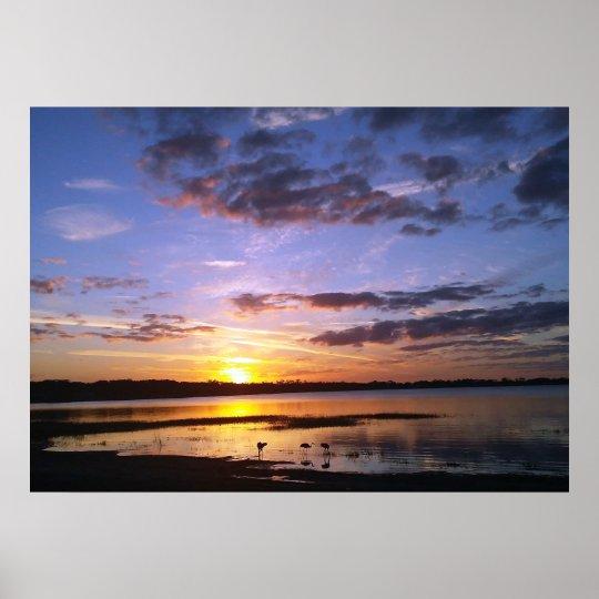 Tropical Florida Sunset Landscape Poster Photo Art
