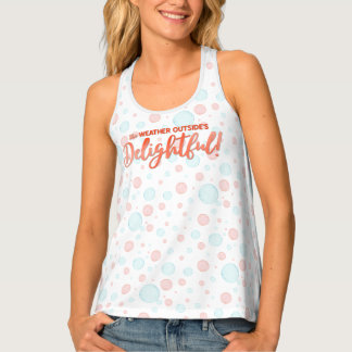 Tropical Florida Winter Teal Baubles & Bubbles Tank Top