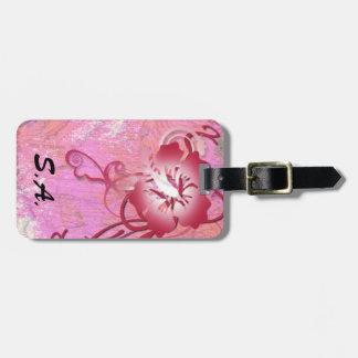 Tropical Flower Bag Tag