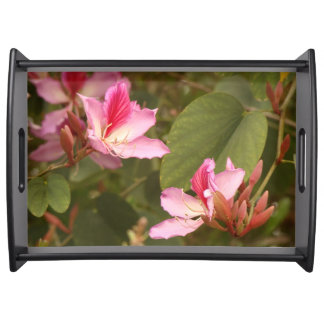 Tropical Flower Blossoms Photography Serving Tray