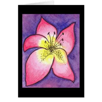 Tropical Flower Card