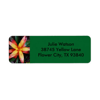 Tropical Flower Label Return Address Label