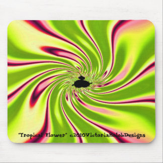 """Tropical Flower"" Mouse Pad"