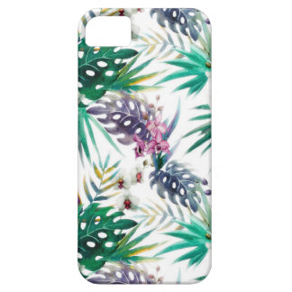 Tropical flower pattern bright iPhone 5 cover