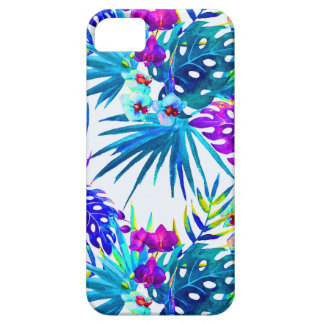 Tropical flower pattern deluxe iPhone 5 case