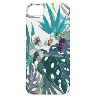 Tropical flower pattern iPhone 5 case