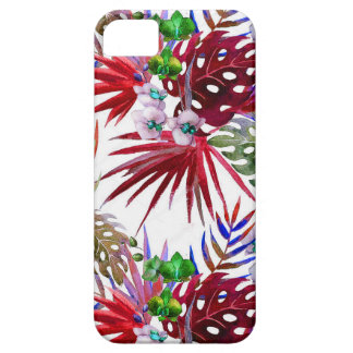 Tropical flower pattern iPhone 5 cover