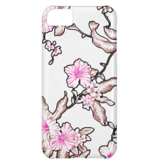 Tropical flower pattern iPhone 5C cases