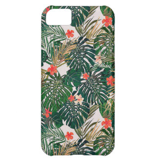 Tropical flower pattern iPhone 5C cover