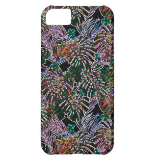 tropical flower pattern NEON iPhone 5C Case