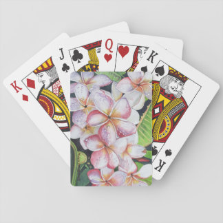 Tropical Flower Playing Cards