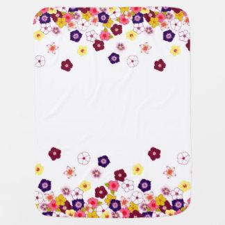 Tropical Flower Splash Baby Blanket