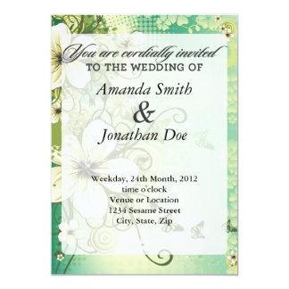Tropical Flower Wedding Invitation