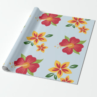 Tropical Flower Wrapping Paper