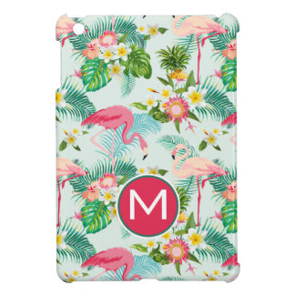 Tropical Flowers And Birds | Add Your Initial iPad Mini Cover