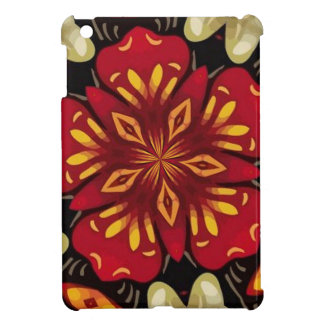 Tropical Flowers And Butterflies Mandala Case For The iPad Mini