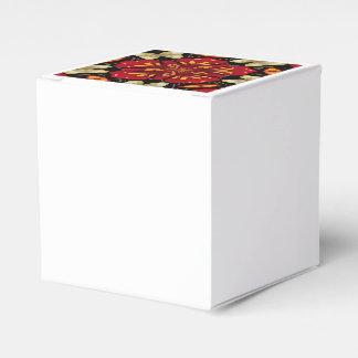 Tropical Flowers And Butterflies Mandala Favor Box