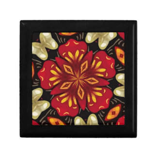 Tropical Flowers And Butterflies Mandala Gift Box
