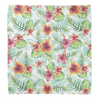 Tropical Flowers and Foliage Bandana