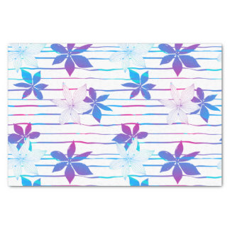 Tropical flowers and stripes tissue paper
