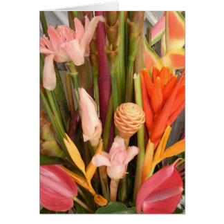 Tropical flowers - Blank Card