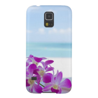 Tropical Flowers by the beach Case For Galaxy S5