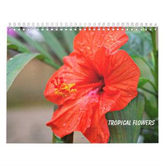Tropical Flowers Calendar