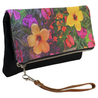 Tropical Flowers Clutch