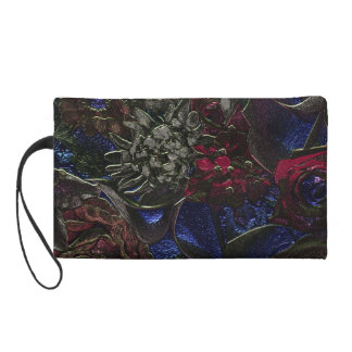 Tropical flowers cosmetic bag