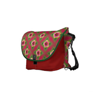 Tropical Flowers Courier Bag