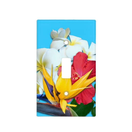 Tropical Flowers Decorative Switchplate Cover