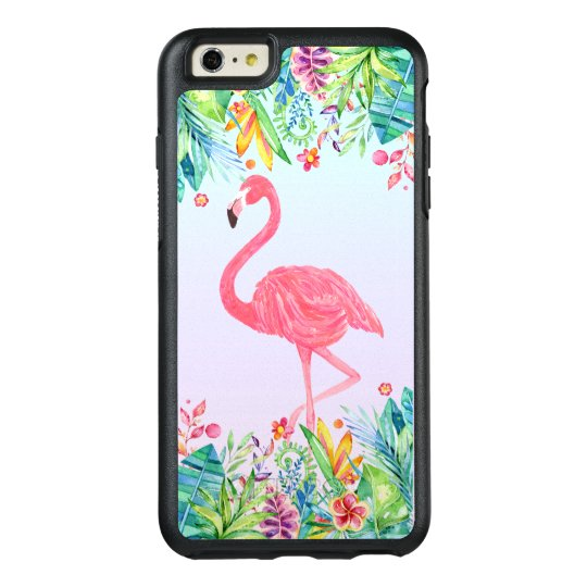 Tropical Flowers Design & Pink Flamingo OtterBox iPhone 6/6s Plus Case