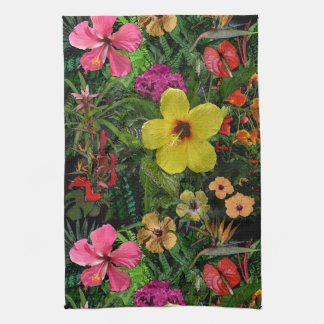 Tropical Flowers Kitchen Towel