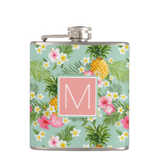Tropical Flowers & Pineapples | Add Your Initial Flasks