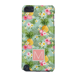 Tropical Flowers & Pineapples   Add Your Initial iPod Touch 5G Covers