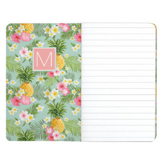Tropical Flowers & Pineapples | Add Your Initial Journal