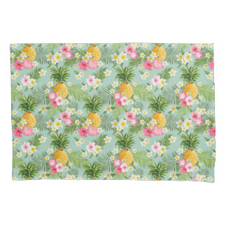 Tropical Flowers & Pineapples Pillowcase