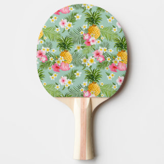 Tropical Flowers & Pineapples Ping Pong Paddle
