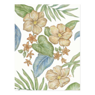Tropical Flowers postcard