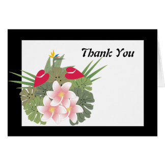 Tropical Flowers Thank You Card