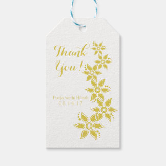 Tropical Flowers Thank You Gift Tags