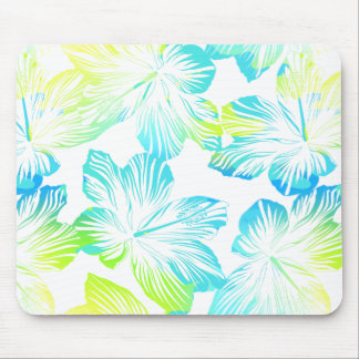 Tropical flowers watercolour mouse pad