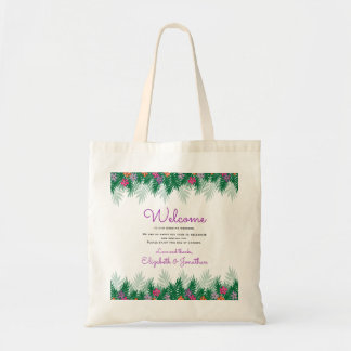 Tropical Flowers | Wedding Welcome Tote Bag