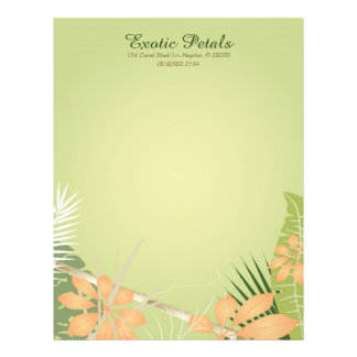 Tropical Foliage Letterhead