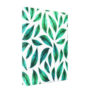 Tropical Foliage Pattern Canvas Print